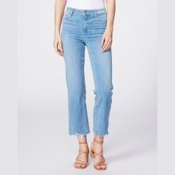 PAIGE Women's Atley Ankle Flare Jeans - Satellite | Blue | Size 23 found on Bargain Bro India from Paige for $215.00