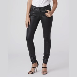 PAIGE Women's Verdugo Ultra Skinny Jeans - Black Fog Luxe Coating   Size 31 found on Bargain Bro from Paige for USD $166.44