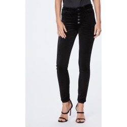PAIGE Women's Hoxton Ankle Peg Pant - Black Overdye Exposed Buttons | Size 28 found on Bargain Bro India from Paige for $239.00