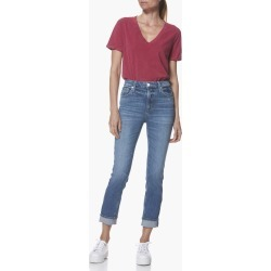 PAIGE Women's Sarah Slim - Embarcadero Straight Jeans | Blue | Size 25 found on Bargain Bro India from Paige for $229.00