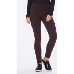 PAIGE Women's Hoxton Skinny Jeans Cargo - Vintage Deep Vino | Size 31 found on Bargain Bro India from Paige for $225.00