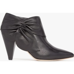 PAIGE Women's Catrine - Black Leather Ankle Boots | High Heel Shoes (3