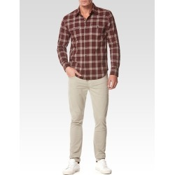 PAIGE Men's Everett Shirt - Red Desert Harmon Plaid | Size Medium | Long Sleeves found on Bargain Bro India from Paige for $179.00