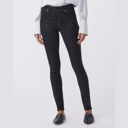 PAIGE Women's Hoxton Ultra Skinny Jeans - Black Croc Coating   Size 24 found on Bargain Bro from Paige for USD $181.64