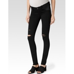 PAIGE Women's Verdugo Maternity - Black Shadow Destructed Ultra Skinny Jeans | Size 25 found on Bargain Bro India from Paige for $209.00