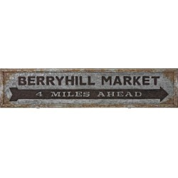 Rustic Style Galvanized Iron Market Sign in Rectangular Shape, Gray and Brown found on Bargain Bro Philippines from Facebook Inc for $71.56