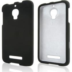 Alcatel Black Rubberized Hard Case For One Touch Fierce