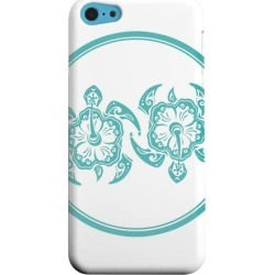 Apple Geeks Designer Line (gdl) Iphone 5c Matte Hard Back Cover - Aqua Island Turtle Duo