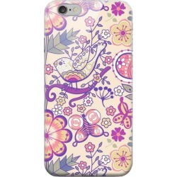 Apple Geeks Designer Line (gdl) Iphone 6 Matte Hard Back Cover - Birds, Hearts & Flowers