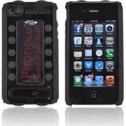 Apple Bodydock Bronze Edition Iphone 4 / 4s Hard Case W/ Screen Protective Appliqui - Black