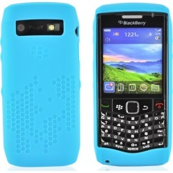 Blackberry Original Pearl 9100 Patterned, Rubber Silicone Case, Hdw-29562-001 - Baby Blue