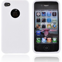 Apple Luxmo Verizon/ At&t Iphone 4, Iphone 4s Crystal Silicone Case - Leather Textured White
