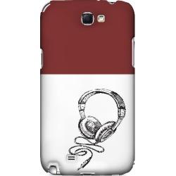 Samsung Head Bobbing Maroon - Geeks Designer Line Music Series Hard Case For Galaxy Note 2