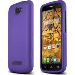 Alcatel Purple One Touch Fierce 2 Matte Rubberized Hard Case Cover; Perfect Fit As Best Coolest Design Plastic Cases