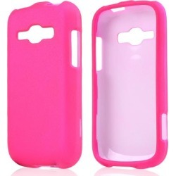 Samsung Hot Pink Rubberized Hard Case For Galaxy Ring/ Galaxy Prevail 2