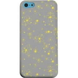 Apple Geeks Designer Line (gdl) Iphone 5c Matte Hard Back Cover - Yellow Daisies On Gray