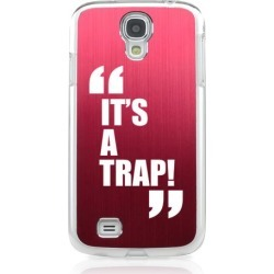 Samsung It's A Trap - Geeks Designer Line Laser Series Red Aluminum On Clear Case For Galaxy S4