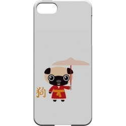 Apple Dog On White Geeks Designer Line Chinese Horoscope Series Slim Hard Case For Iphone 5/5s