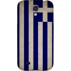 Samsung Grunge Greece - Geeks Designer Line Flag Series Hard Back Case For Galaxy S4