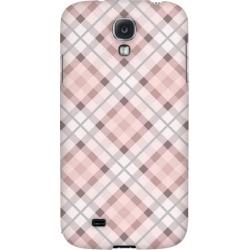 Samsung Pink/ Gray Plaid - Geeks Designer Line Checker Series Hard Back Case For Galaxy S4