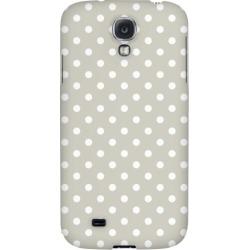 Samsung White Dots On Khaki - Geeks Designer Line Polka Dot Series Hard Back Case For Galaxy S4