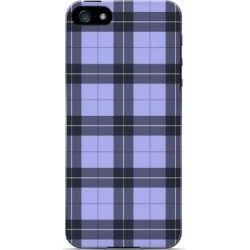 Apple Scottish-like Plaid In Purple - Geeks Designer Line Checker Series Hard Case For Iphone 5/5s