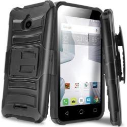 Alcatel Dawn / Acquire / Streak Holster Case, Redshield [black] Supreme Protection Hard Plastic On Silicone Skin Dual Layer Hybrid Case