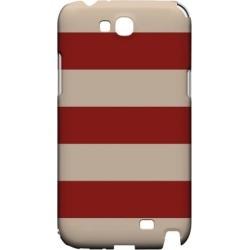 Samsung Linen Poppy Red - Geeks Designer Line Stripe Series Hard Case For Galaxy Note 2