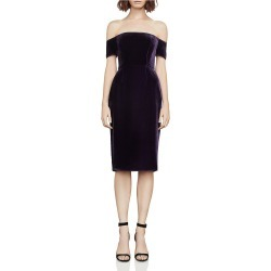 BCBG Womens Kerry Velvet Off-The-Shoulder Cocktail Dress found on MODAPINS from pricefalls for USD $90.99