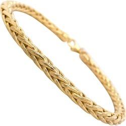 Wheat Chain Bracelet 14 Karat Yellow Gold Men's Or Women's Chain Bracelet, 9gm found on MODAPINS from 1stDibs for USD $1439.00