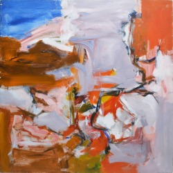 Unknown, Mid Century Modern, Large Abstract Expressionist Composition, 1960 found on Bargain Bro Philippines from 1stDibs for $1425.00