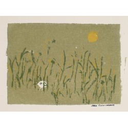 Carol Cunningham, Hidden Bird In A Field 1960-70s Serigraph, 1960-1970's