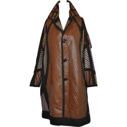 Issey Miyake Multi-color Multi-stripe Bold Abstract Flared Car Coat found on Bargain Bro India from 1stDibs for $2885.00