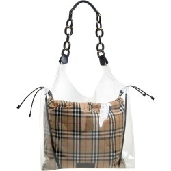 Burberry Transparent/beige Plastic And Leather Shopper Bag found on Bargain Bro from 1stDibs for USD $760.76