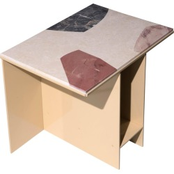 Marble-topped Cut-out Uniform Side Table By Other Kingdom found on Bargain Bro from 1stDibs for USD $1,440.20
