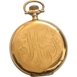 Antique 14 Karat Gold Hamilton Watch Co. Full Hunter Pocket Watch found on MODAPINS from 1stDibs for USD $2905.28