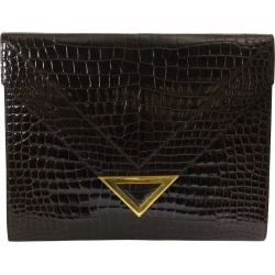 Delvaux Brown Croco Clutch found on MODAPINS from 1stDibs for USD $1768.56