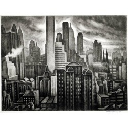 Howard Norton Cook, Soaring New York, 1931 found on Bargain Bro India from 1stDibs for $17500.00