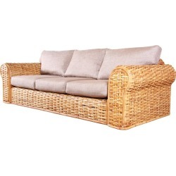 Ralph Lauren Organic Modern Woven Rattan Sofa found on Bargain Bro India from 1stDibs for $2995.00
