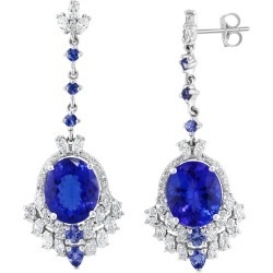 Effy Hematian 18 Karat White Gold Diamond & Tanzanite Earrings found on Bargain Bro Philippines from 1stDibs for $12948.00