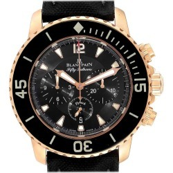 Blancpain Fifty Fathoms Flyback Rose Gold Chronograph Men's Watch 5085f found on MODAPINS from 1stDibs for USD $23078.00