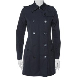 Burberry Midnight Blue Gabardine & Jacquard Lapel Detail Trench Coat S found on Bargain Bro Philippines from 1stDibs for $756.00