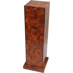 Burl Wood Patchwork Pedestal Stand Burl Wood And Rosewood Trim Square Column