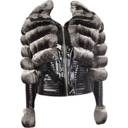Jitrois Silver Chinchilla Fur & Patent Leather Jacket Sz. F 36 / Xs found on MODAPINS from 1stDibs for USD $7500.00