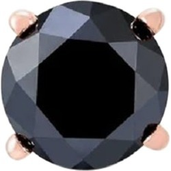 2.42 Carat Round Black Diamond Single Stud Earring For Men In 14 K Rose Gold found on Bargain Bro Philippines from 1stDibs for $471.00