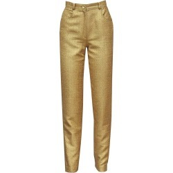 Emanuel Ungaro Couture Quilted Gold Lame? High Waisted Pants, C. 1980s found on MODAPINS from 1stDibs for USD $1883.86