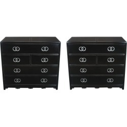 Pair Of Ebonized And Silver Leaf Commodes By Michael Taylor For Baker found on Bargain Bro Philippines from 1stDibs for $10500.00