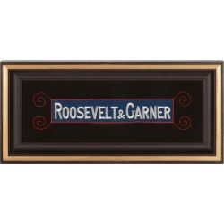 roosevelt & Garner Embroidered Armband Supporting The 1932 Democratic Ticket found on Bargain Bro Philippines from 1stDibs for $1650.00