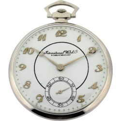 International Watch Company Platinum Tuxedo Pocket Watch found on MODAPINS from 1stDibs for USD $3800.00