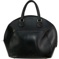 Vintage Black Leather Hermes Bag